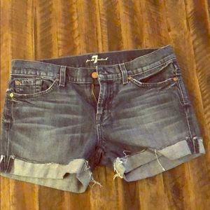 Midrise 7 for all of Mankind Jean shorts